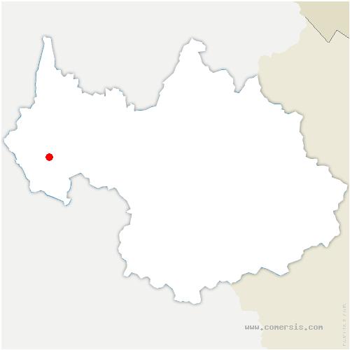 carte de localisation de Aiguebelette-le-Lac