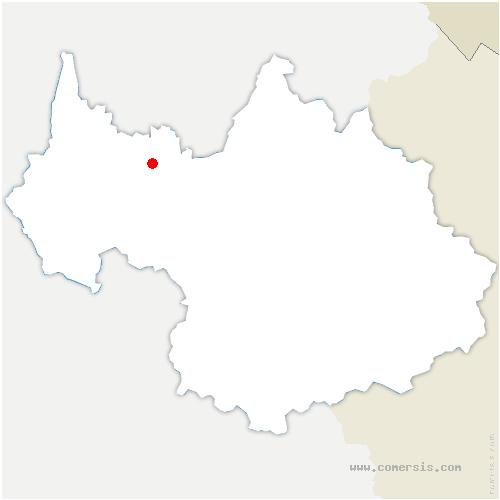 carte de localisation de Aillon-le-Vieux