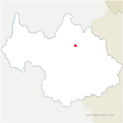 carte de localisation de Aime-la-Plagne