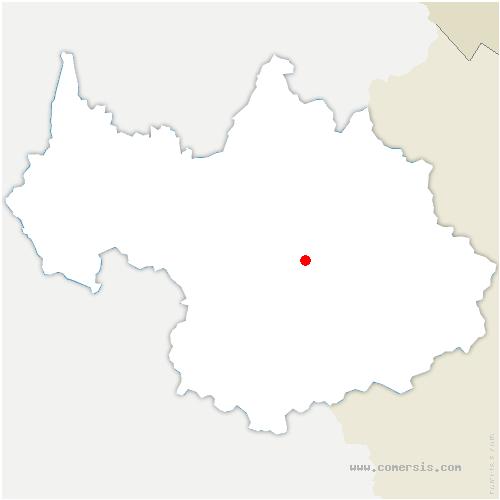 carte de localisation de Allues