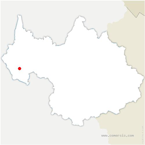 carte de localisation de Attignat-Oncin