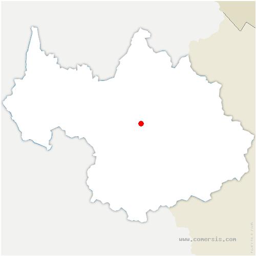 carte de localisation de Avanchers-Valmorel