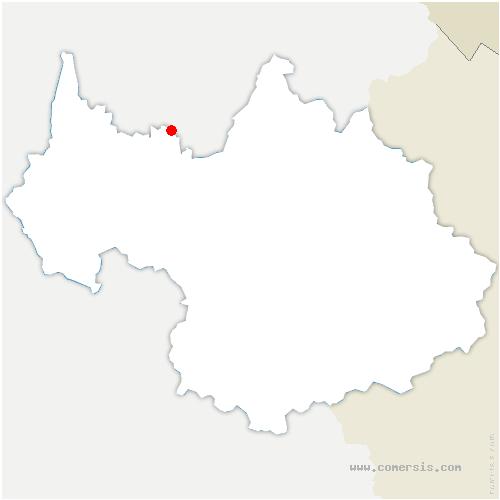 carte de localisation de Bellecombe-en-Bauges