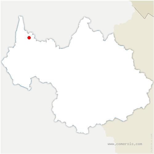 carte de localisation de Biolle
