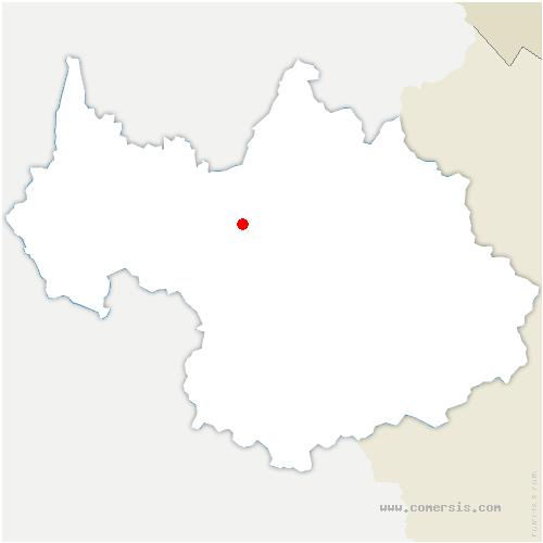 carte de localisation de Bonvillard