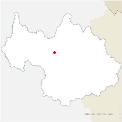 carte de localisation de Bonvillaret
