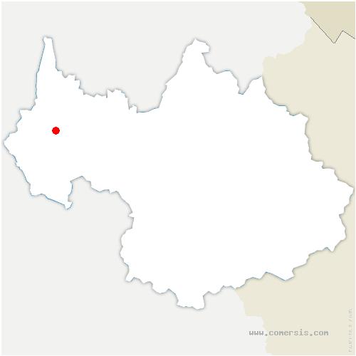 carte de localisation de Bourget-du-Lac