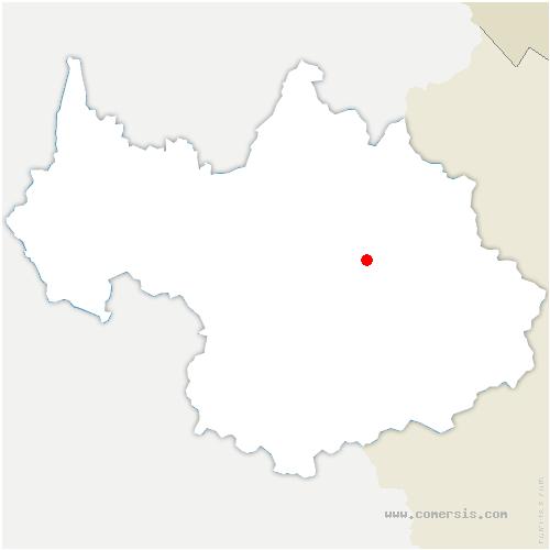 carte de localisation de Bozel