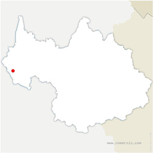 carte de localisation de Bridoire