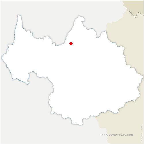 carte de localisation de Césarches