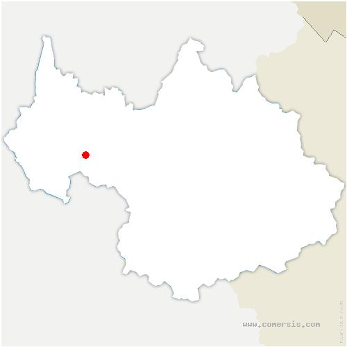 carte de localisation de Challes-les-Eaux