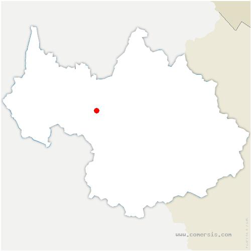 carte de localisation de Chamoux-sur-Gelon
