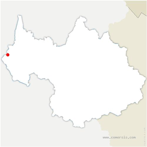carte de localisation de Champagneux