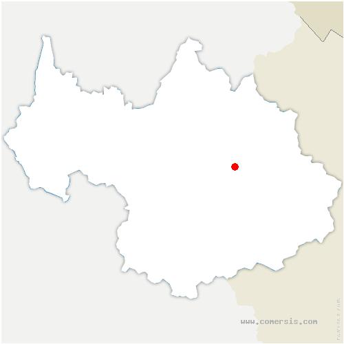 carte de localisation de Champagny-en-Vanoise