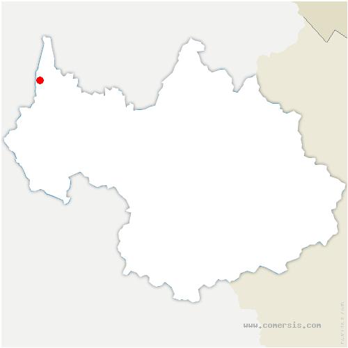 carte de localisation de Chanaz