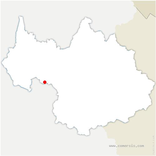 carte de localisation de Chapelle-Blanche