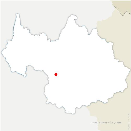 carte de localisation de Chavannes-en-Maurienne