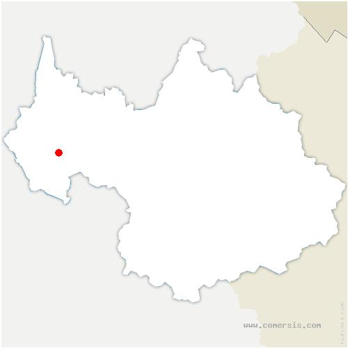 carte de localisation de Cognin