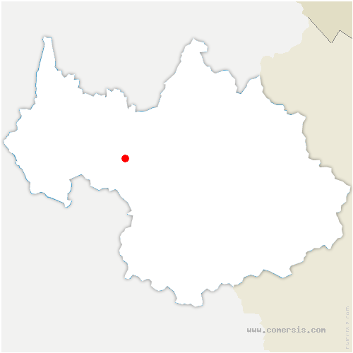 carte de localisation de Coise-Saint-Jean-Pied-Gauthier