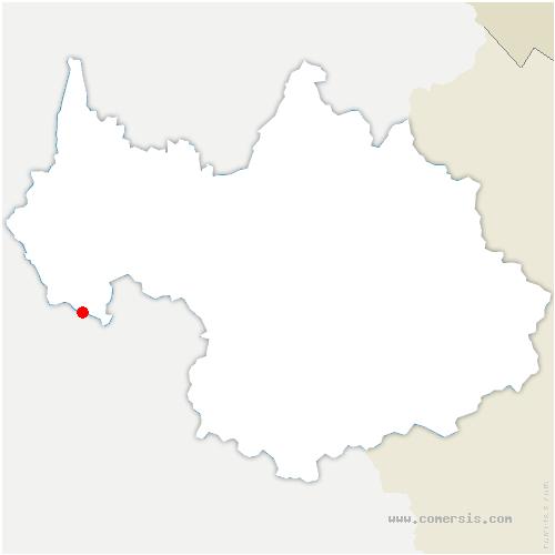 carte de localisation de Corbel