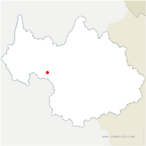 carte de localisation de Croix-de-la-Rochette