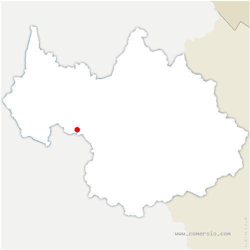 carte de localisation de Détrier