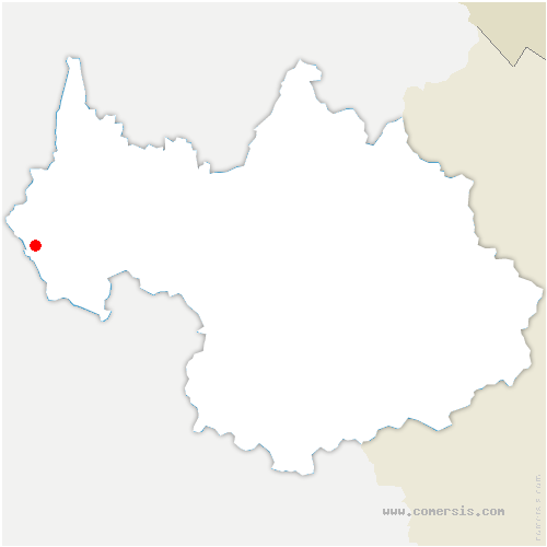 carte de localisation de Domessin