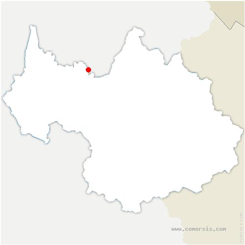 carte de localisation de Doucy-en-Bauges