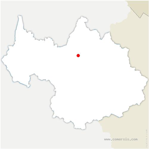 carte de localisation de Esserts-Blay