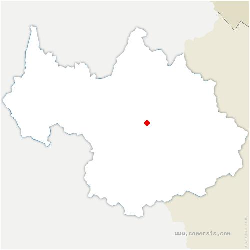 carte de localisation de Feissons-sur-Salins