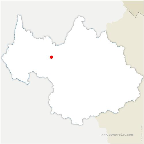 carte de localisation de Fréterive