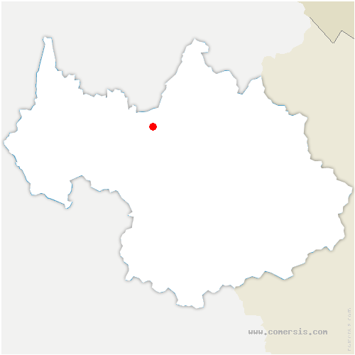 carte de localisation de Frontenex