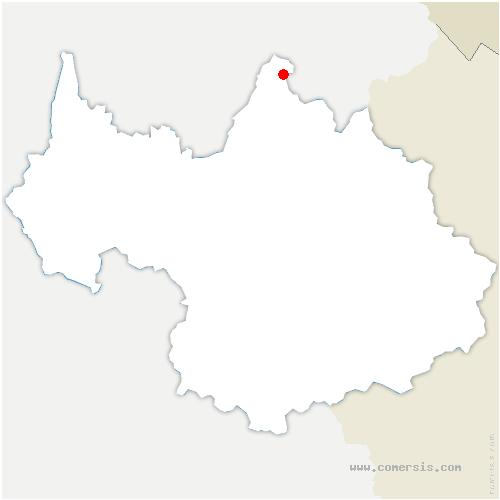carte de localisation de Giettaz
