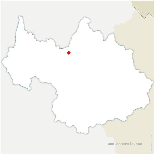 carte de localisation de Gilly-sur-Isère