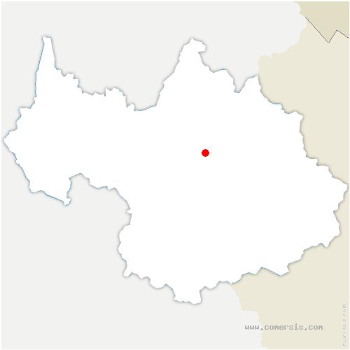 carte de localisation de Grand-Aigueblanche