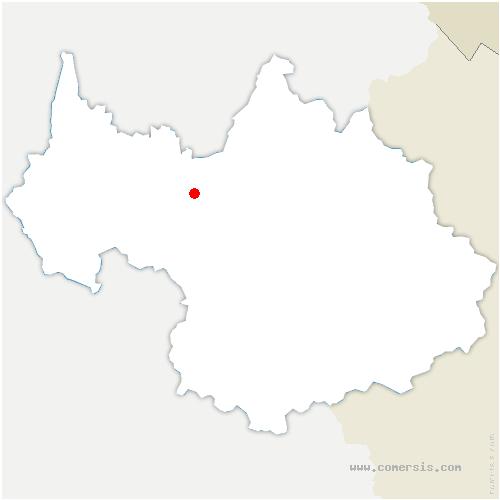 carte de localisation de Grésy-sur-Isère