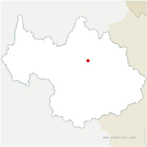 carte de localisation de Hautecour