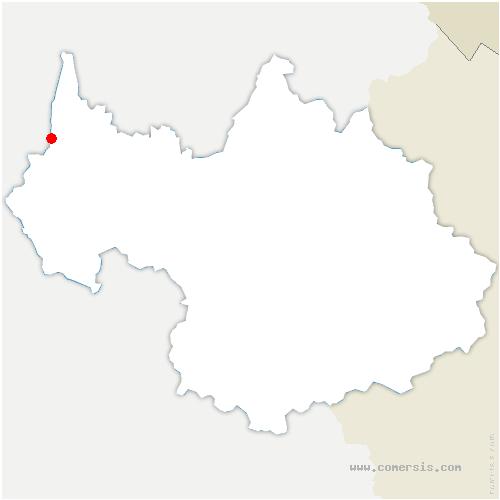 carte de localisation de Jongieux