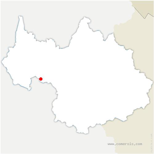 carte de localisation de Laissaud