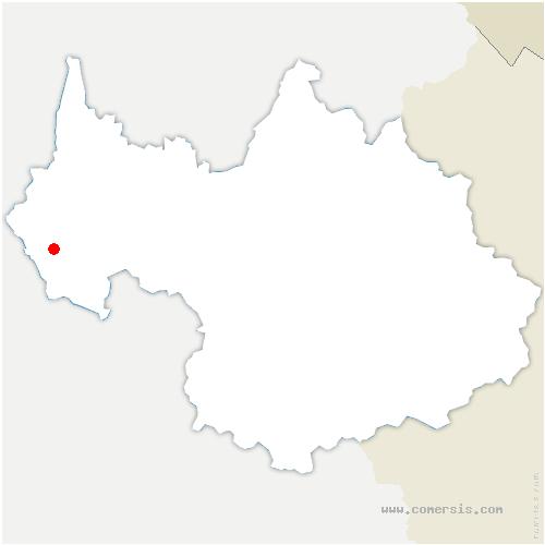 carte de localisation de Lépin-le-Lac