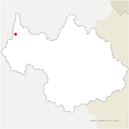 carte de localisation de Lucey