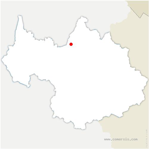 carte de localisation de Mercury