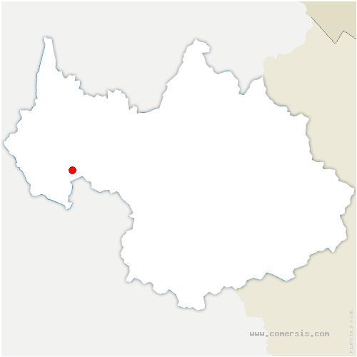 carte de localisation de Montagnole