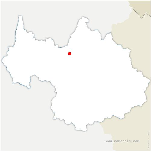 carte de localisation de Monthion