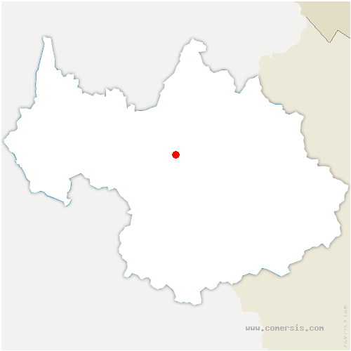 carte de localisation de Montsapey