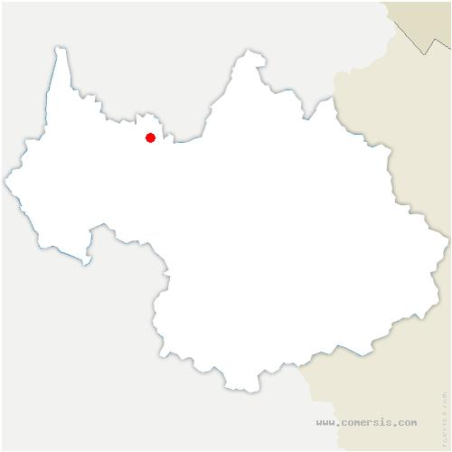 carte de localisation de Motte-en-Bauges