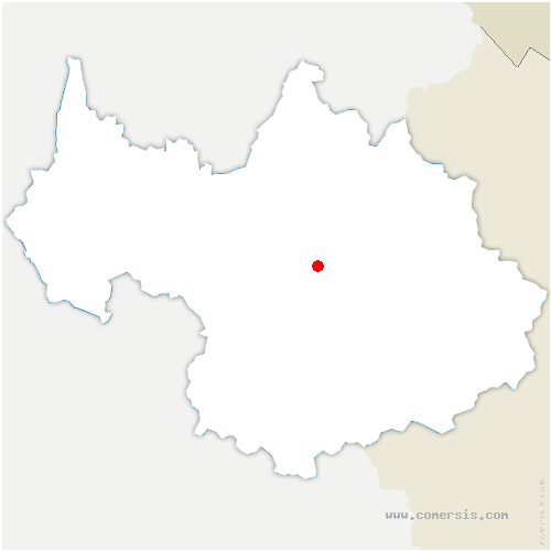 carte de localisation de Moûtiers