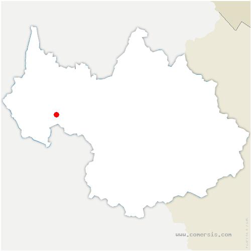 carte de localisation de Myans