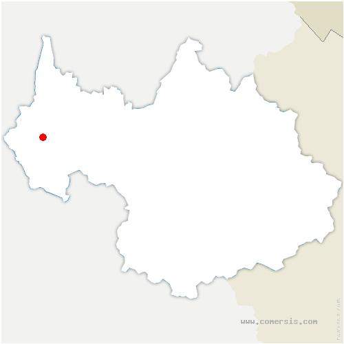 carte de localisation de Nances