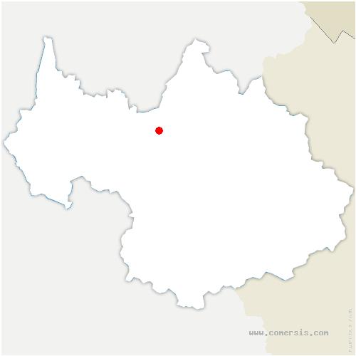 carte de localisation de Notre-Dame-des-Millières